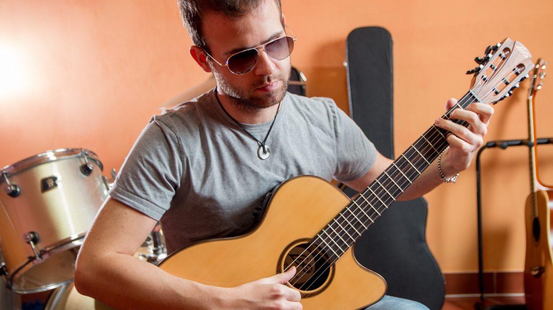 Michele Romeo Playing guitar